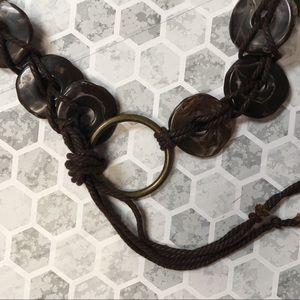 Boho style stones belt